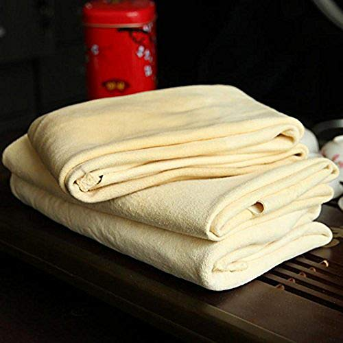 Trainshow Car Drying Natural Chamois Cleaning Cloth Premium Genuine Deerskin Leather Towel for Auto Car Washing and for Precision Instrument (12.6''X20'' (1-Pack))