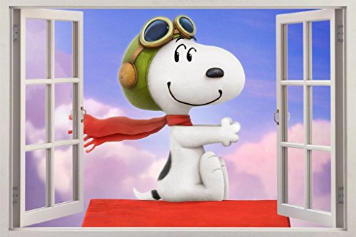 The Peanuts Movie Snoopy 3D Window Decal Graphic Wall Sticker Art Mural H484, Huge