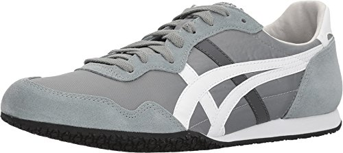 Onitsuka Tiger by Asics Unisex Serrano¿ Chinois Green/White Men's 4, Women's 5.5 Medium (Tiger Leather Sneakers)