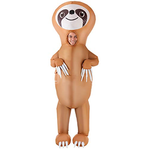AFG Media LTD Inflatable Sloth Halloween Costume for Men, One Size, with Included Accessories -
