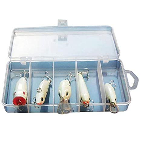 1Pc night fishing bait kit luminous popper crank minnow pencil glow fish lure  X