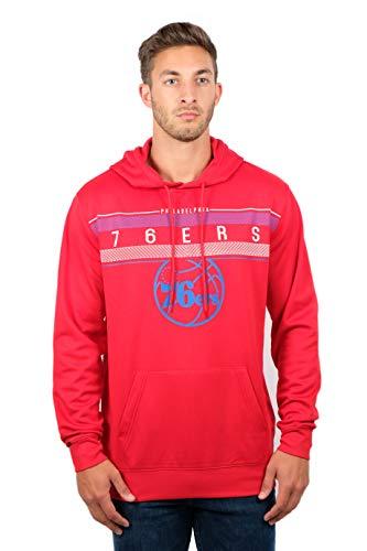 UNK NBA Men's Fleece Hoodie Pullover Sweatshirt Poly Midtown, Red, X-Large ()