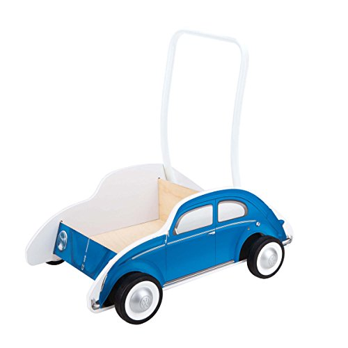 Hape Kids Classic VW Beetle Wooden Walker, Blue