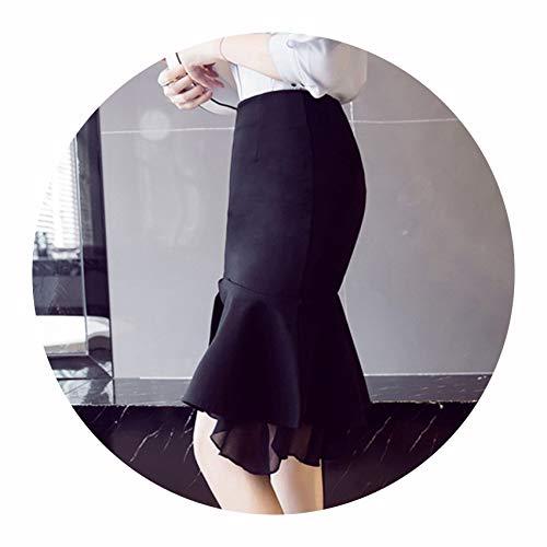 Blank Space Womens Elastic High Waist Slim Office Pencil Skirts,Black,XL ()