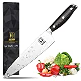 Allezola 8 Inch Professional Chef Knife, Kitchen Knives With Wooden Handle, German High Carbon Stainless Steel & Full Tang Blade, Perfect Cooking Knife for Cutting, Dicing, Slicing or Mincing