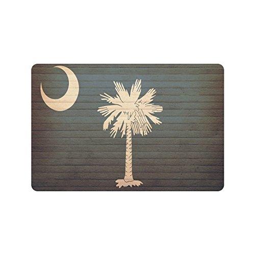- South Carolina State Flag Durable Home Indoor/Outdoor Floor Mat Doormats(23.6 X 15.7 Inch)