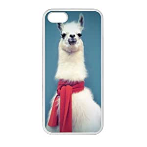 Generic Llama with Pink Scarf TPU Case for Iphone 5 5s