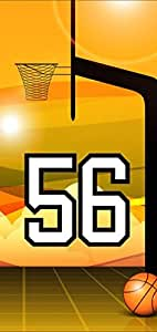 Basketball Sports Fan Player Number 56 Black Plastic Decorative iphone 4s Case
