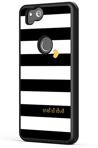 - Pixel 2 XL Case Love,Gifun [Anti-Slide] and [Drop Protection] Soft Black TPU Protective Case Cover for Google Pixel 2 XL 2017 Release - White Black Gold Love