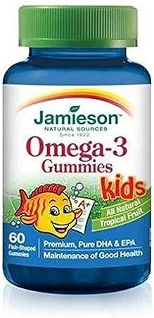 Omega 3 para Niños 60 caramelos de goma de Jamieson: Amazon.es: Salud y cuidado personal
