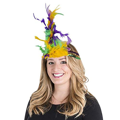 Mardi Gras Fat Tuesday Sequin Feather Party Supply
