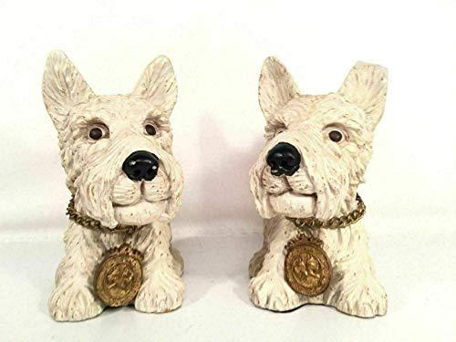 (PHOENIX FINDS TREASURES Scottish Terrier Bookends Chris Madden Home Collection Scottie Dog Figurine)