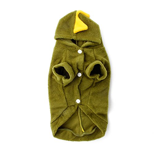 [Delight eShop Dinosaur Pet Dogs Puppy Cat Cute Pretty Hoodie Costumes T shirt Clothes Apparel (M)] (Army Dog Costumes)