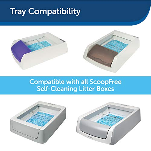 PetSafe ScoopFree Reusable Cat Litter Tray with 4.5 Lb of Premium Blue Non Clumping Crystal Litter – Compatible with All…