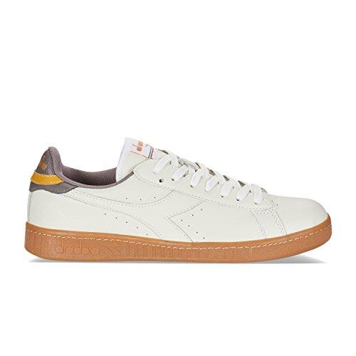 de GOLD Chaussures C7004 Gymnastique BLANC Bianco Diadora Homme PLUM GRIS Game L Low q8RI7t