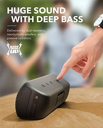 Anker Soundcore Motion+ Bluetooth Speaker with Hi-Res 30W Audio, Extended Bass and Treble, Wireless HiFi Portable Speaker with App, Customizable EQ, 12-Hour Playtime, IPX7 Waterproof, and USB-C 41ORY acEjL