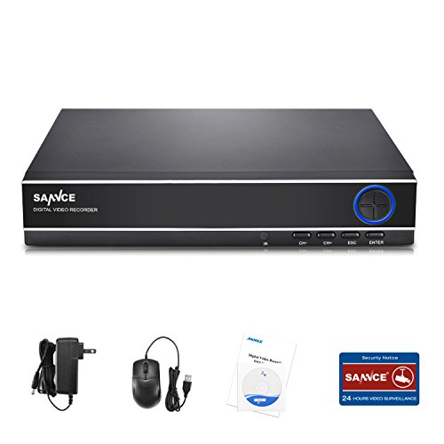 SANNCE Digital Video Recorder 8CH 1080P Lite CCTV DVR System for Security Camera, Email Alert, Motion Detect, NO HDD by SANNCE