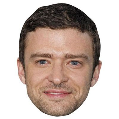 Justin Timberlake Celebrity Mask, Cardboard Face and Fancy - Cardboard Cutout Celebrities