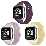 Kmasic Sport Band Compatible Versa/Versa Lite Edition 3 Pack, Soft Silicone Strap Replacement Wristband Compatible Versa Smart Fitness Watch, Large Small