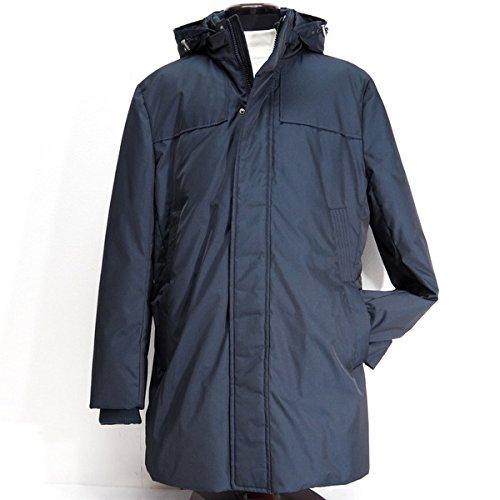 20442 秋冬 ダウンコート ロングコート フード着脱自由 ネイビー(紺) サイズ 48(L) Vittorio Carini 紳士服 メンズ 男性用