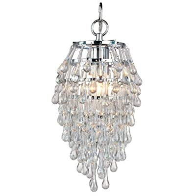 "AF Lighting 4950-1H Elements Series ""Crystal Teardrop"" Chandelier with Clear Dro,"