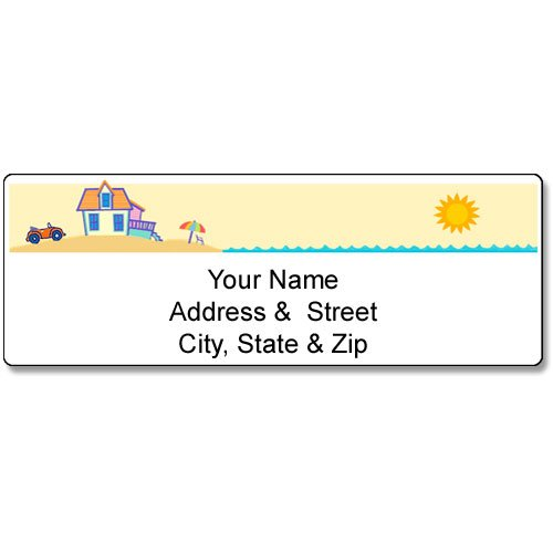 Beach House Address Label - Customized Return Address Label - 90 Labels