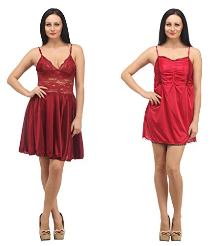 Klamotten Satin Babydoll Women Nightwear Pack Of Two X07-X98