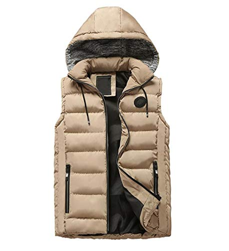 Khaki Warm Mensto Waistcoat Sleeveless Down Winter Cotton Thickening Windbreaker Vest R qBvwfCH5C