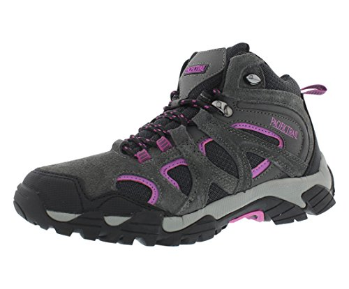 Image of Pacific Trail Diller Women's Hiking Boots Size US 9, Regular Width, Color Charcoal/Pink