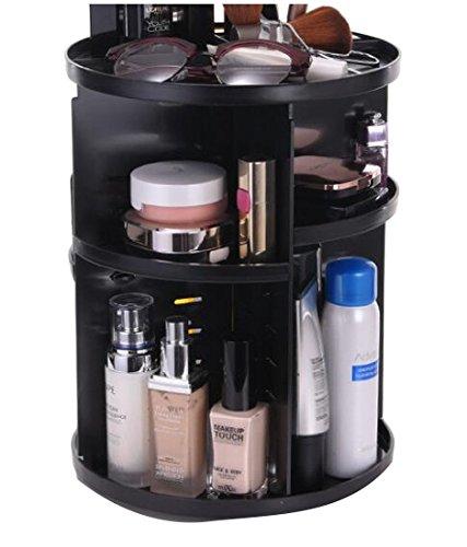 Ruhua Shelving Storage Plastic Solid Multilayer Practical Cosmetics Rotating Creativity Medium Duty Shelf Unit Black US 2 shelves by Ruhua