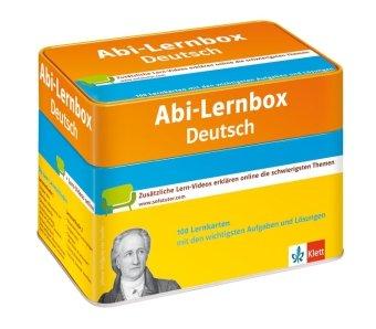 Klett Abi-Lernbox Deutsch: 100 Lernkarten mit den wichtigsten Aufgaben fürs Abitur