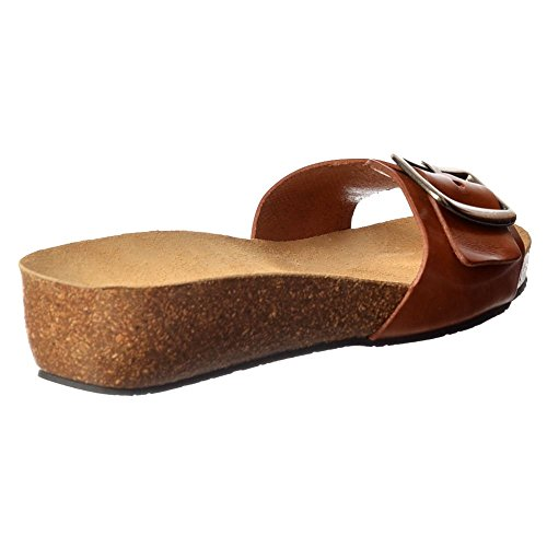 Flip Leather Sandal Tan Flop Women's Chloe Sweet Full ZUxqItga