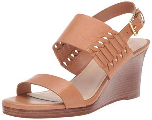 Cole Haan Women's PAIVA Grand Wedge Sandal, Pecan Leather, 7 B US