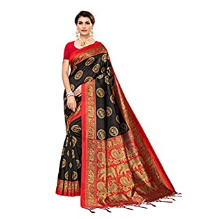 41ORbFBz9nL. SS320 Winza Designer Women's Banarasi Art Silk Saree With Blouse