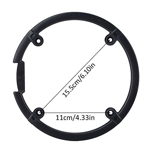 Chain Guard Protector, Black Plastic Chain Wheel Crankset Cover for Mountain Bike by VGEBY (Image #5)
