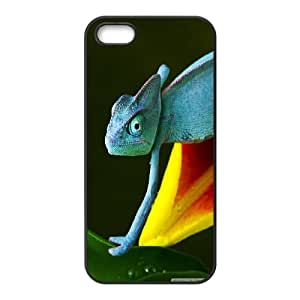 IPhone 5,5S Case Blue Chameleon Unique for Guys, Iphone 5s Cases for Teen Girls Nuktoe, [Black]