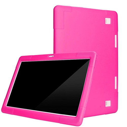 Voberry Universal Silicone Cover Case For 10 10.1 Inch Android Tablet PC (Hot Pink) (Tablets Cases 10 Inch)
