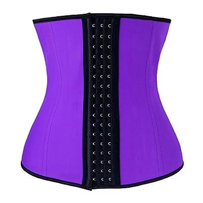 Charmian Women's Latex Waist Training Underbust Corset Weight Loss Body Shaper