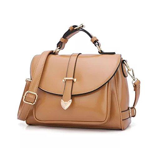 Handbag Satchel Bow Crossbody Bags Medium Size Top Handle Bags Leather Sling Shoulder Bag for Women (CAMEL) Bow Satchel