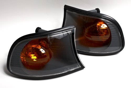 - BMW 3 E46 Compact Facelift 2001-2005 Amber Lens Turn Signals Corner Lights PAIR