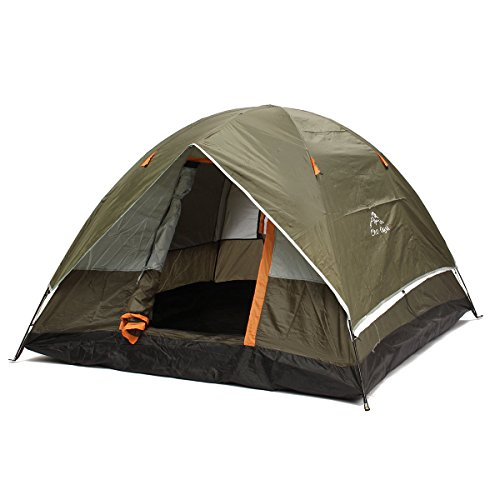 Outdoor 4 Persons Camping Tent Double Layer Waterproof Windproof Anti-UV Sunshade Canopy