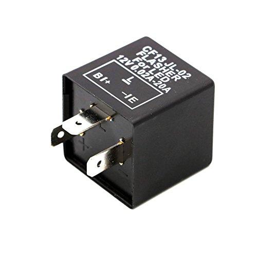 Turn Signal Flasher Relay 12V 2 Pin Motorcycle LED Indicator Light - 9