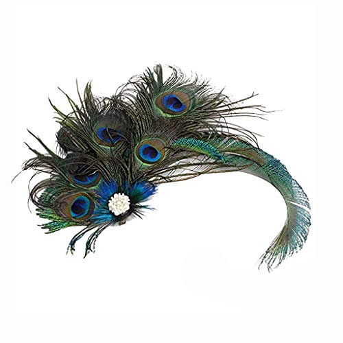Nosterappou Party Dress Accessories, Elegant Peacock Hair Clips,