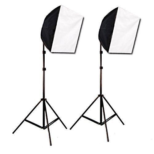 CowboyStudio Photography Photo Studio Video Quick Softbox Lighting Light Kit, 600 Watt Output by CowboyStudio