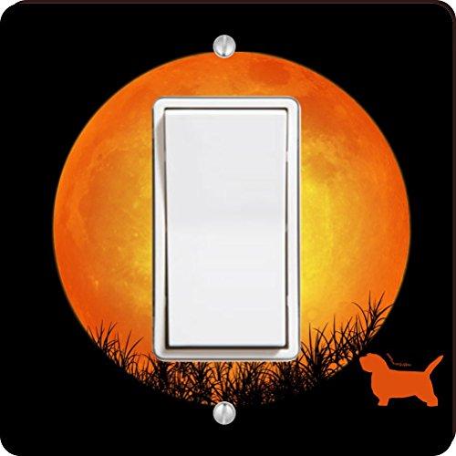 Rikki Knight 41345 Petit Basset Griffon Dog Silhouette By Moon Design Light Switch Plate (Griffon Silhouette)