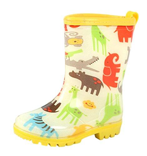 Regenstiefel Gummistiefel Kinder Eozy Regen Schuhe Mädchen Cartoon Unisex Gelb Jungen xqHXwRSn1U