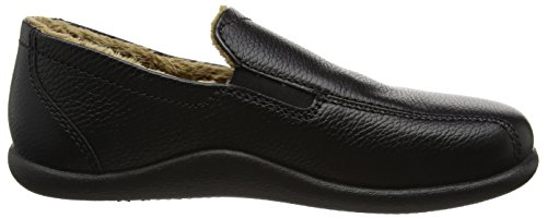 Hotter Men's Relax Hi-Top Slippers Black (Black Grain) pHFq50
