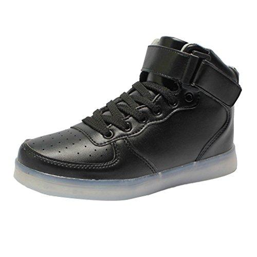 Led Adulte Running Waterproof Chaussures Lumineuses Noël Montantes En Pu Sharplace Noir Soirée Cuir Pour Fête Enfant qn5dXCxw