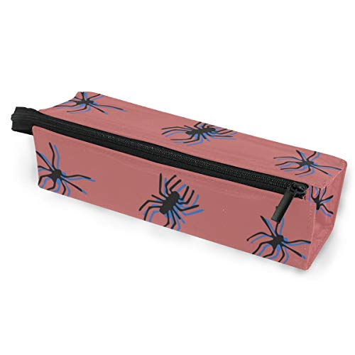 Pen Holder/Stationery Cosmetic Makeup Bag Pouch Round Case Spider Insect Crawl Animal Creativity Minimalist Print Polyester Zipper Pencil Bag Multi-Function Glasses Storage Bag -