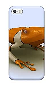 Premium Diushoujuan Frog With Bloodshot Eyes Fashion Tpu Iphone 4/4s Protective Case Cover
